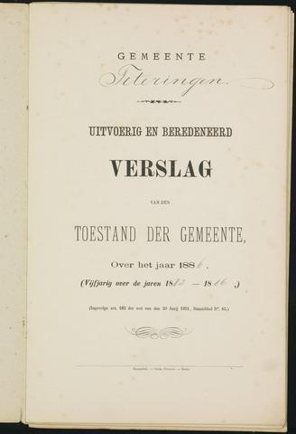 Teteringen - Verslagen van de toestand van de gemeente 1886