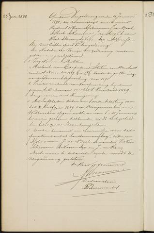 Princenhage - Notulen van de gemeenteraad 1890-01-01