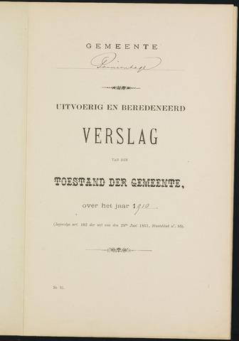 Princenhage - Verslagen van de toestand van de gemeente 1910