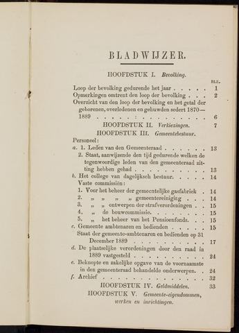 Breda - Verslagen van de toestand van de gemeente 1889