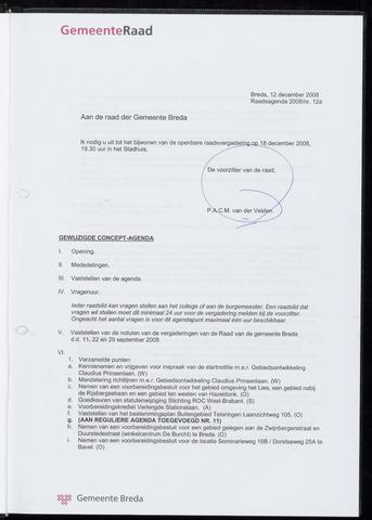 Breda - Bijlagen bij de notulen van de gemeenteraad 2008-12-18