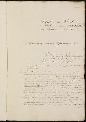 Breda - Notulen van de gemeenteraad 1817-01-08