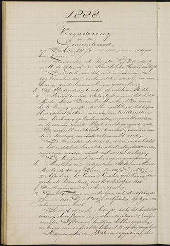 Teteringen - Notulen en bijlagen van de gemeenteraad 1888