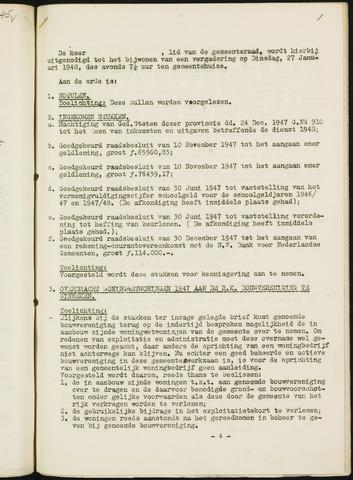 Nieuw-Ginneken - Notulen en bijlagen van de gemeenteraad 1948