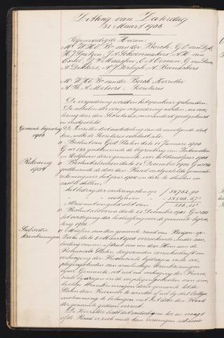 Ginneken en Bavel - Notulen van de gemeenteraad 1906-01-01