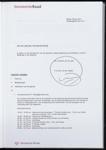 Breda - Bijlagen bij de notulen van de gemeenteraad 2011-07-07
