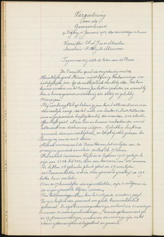 Teteringen - Notulen en bijlagen van de gemeenteraad 1954