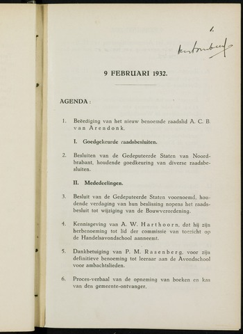 Breda - Notulen van de gemeenteraad 1932-01-01
