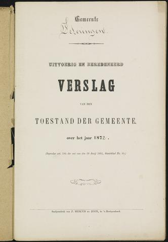 Teteringen - Verslagen van de toestand van de gemeente 1872