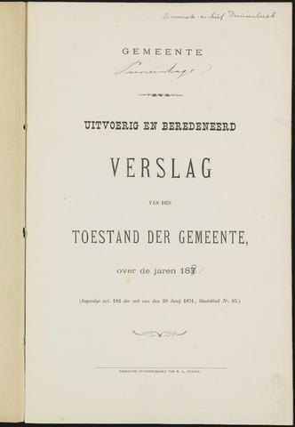 Princenhage - Verslagen van de toestand van de gemeente 1881