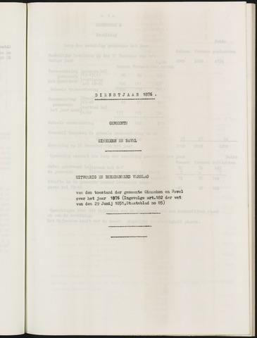 Ginneken en Bavel - Verslagen van de toestand van de gemeente 1876