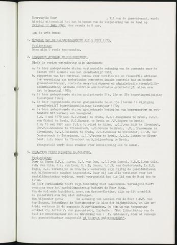 Nieuw-Ginneken - Notulen en bijlagen van de gemeenteraad 1970