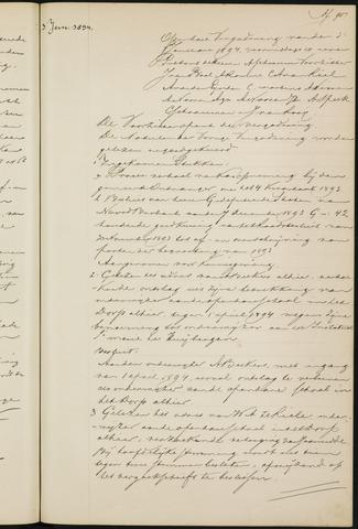 Princenhage - Notulen van de gemeenteraad 1894-01-01