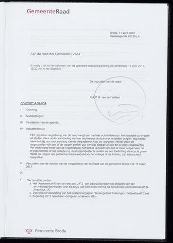 Breda - Bijlagen bij de notulen van de gemeenteraad 2012-04-19