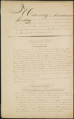 Teteringen - Verslagen van de toestand van de gemeente 1852