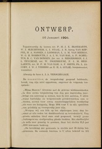 Breda - Notulen van de gemeenteraad 1904-01-01