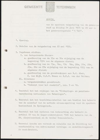 Teteringen - Notulen en bijlagen van de gemeenteraad 1975-06-24