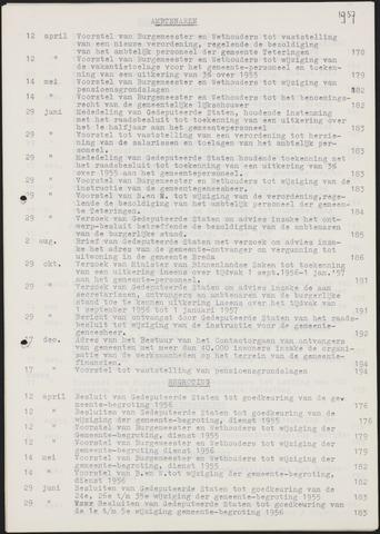 Teteringen - Indexen op de notulen van de gemeenteraad 1956-01-01