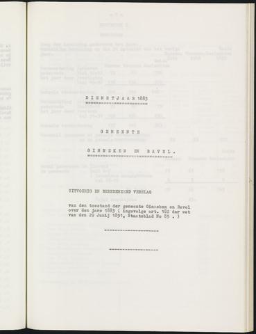 Ginneken en Bavel - Verslagen van de toestand van de gemeente 1883