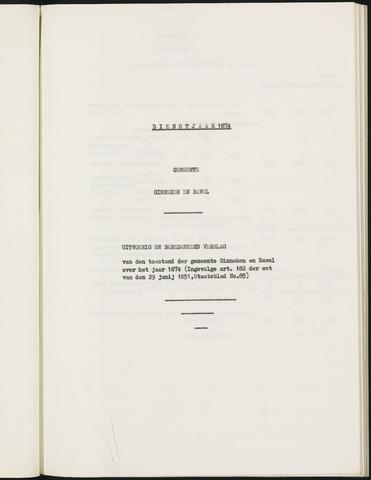 Ginneken en Bavel - Verslagen van de toestand van de gemeente 1874