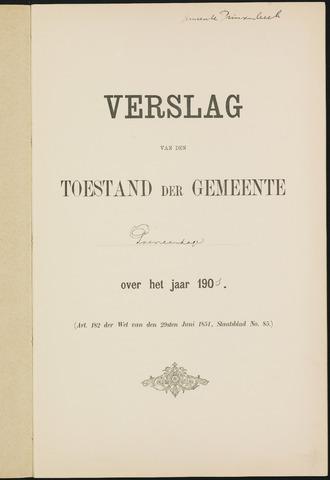 Princenhage - Verslagen van de toestand van de gemeente 1901