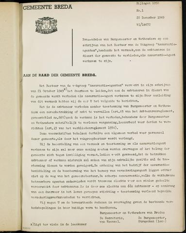 Breda - Bijlagen bij de notulen van de gemeenteraad 1950