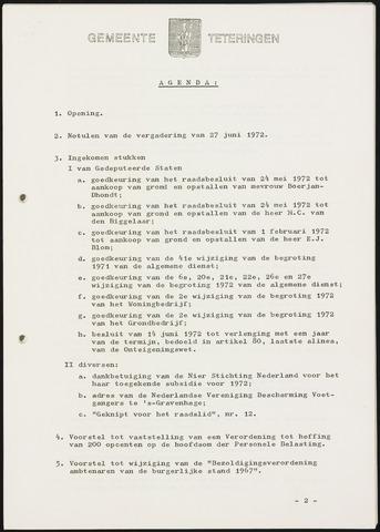 Teteringen - Notulen en bijlagen van de gemeenteraad 1972-08-16