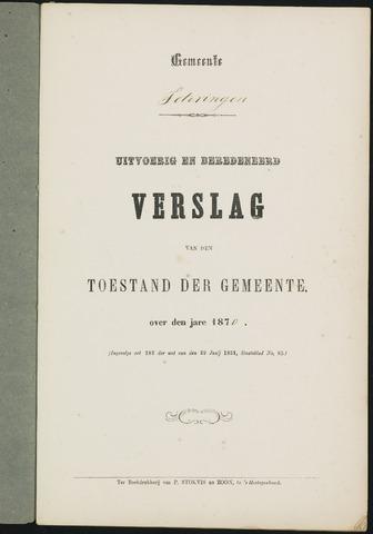 Teteringen - Verslagen van de toestand van de gemeente 1870