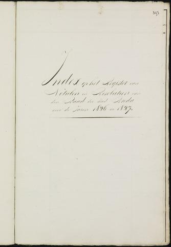 Breda - Indexen op de notulen van de gemeenteraad 1826-01-01