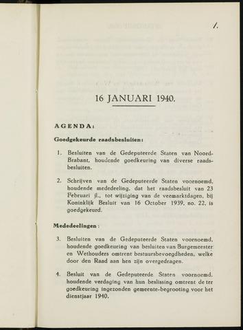 Breda - Notulen van de gemeenteraad 1940