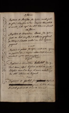 Taufe Anna Van Hoek Am 24 Februar 1805 In Bavel