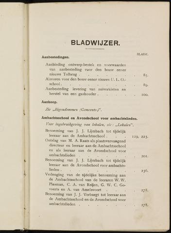 Breda - Indexen op de notulen van de gemeenteraad 1921