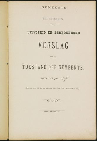 Teteringen - Verslagen van de toestand van de gemeente 1893-01-01