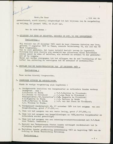 Nieuw-Ginneken - Notulen en bijlagen van de gemeenteraad 1965