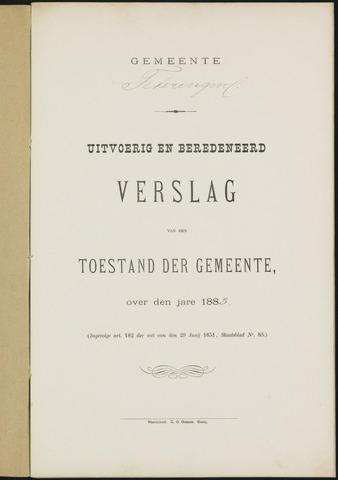 Teteringen - Verslagen van de toestand van de gemeente 1883