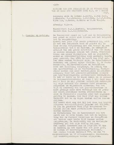 Prinsenbeek - Notulen van de gemeenteraad 1949