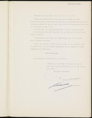 Prinsenbeek - Bijlagen bij de notulen van de gemeenteraad 1956