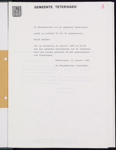 Teteringen - Notulen en bijlagen van de gemeenteraad 1983
