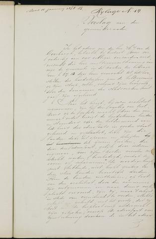 Breda - Bijlagen bij de notulen van de gemeenteraad 1868