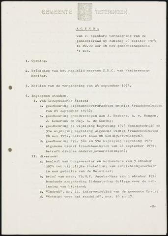 Teteringen - Notulen en bijlagen van de gemeenteraad 1974-10-29