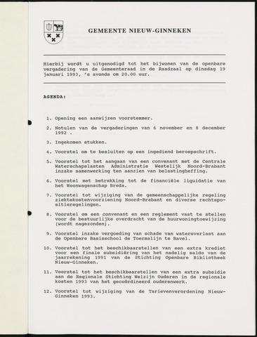 Nieuw-Ginneken - Notulen en bijlagen van de gemeenteraad 1993