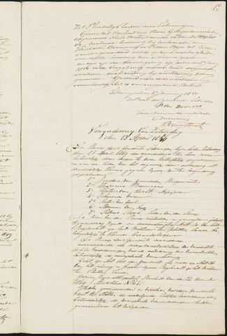 Teteringen - Notulen en bijlagen van de gemeenteraad 1850