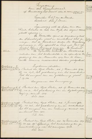 Teteringen - Notulen en bijlagen van de gemeenteraad 1940
