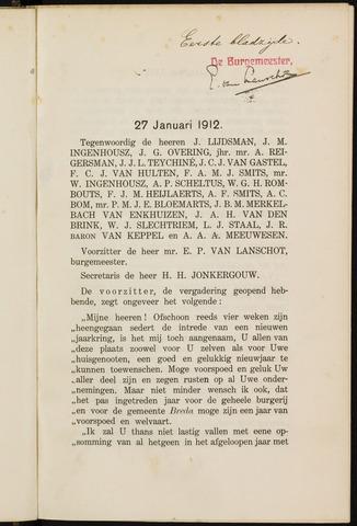 Breda - Notulen van de gemeenteraad 1912-01-01