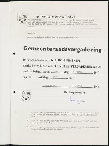 Nieuw-Ginneken - Notulen en bijlagen van de gemeenteraad 1983