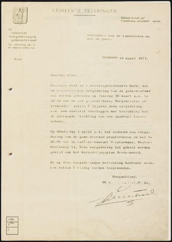 Teteringen - Notulen en bijlagen van de gemeenteraad 1971-04-01