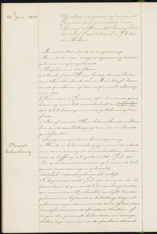 Princenhage - Notulen van de gemeenteraad 1915-01-01