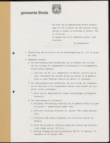 Breda - Bijlagen bij de notulen van de gemeenteraad 1983-01-01
