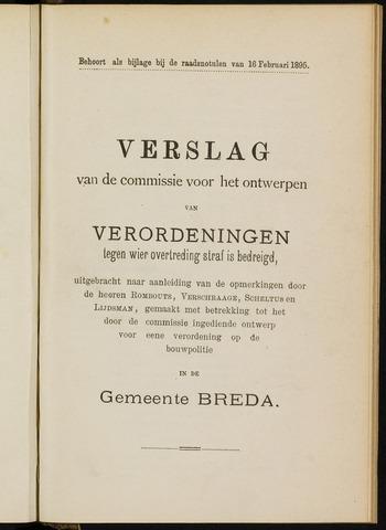 Breda - Bijlagen bij de notulen van de gemeenteraad 1895