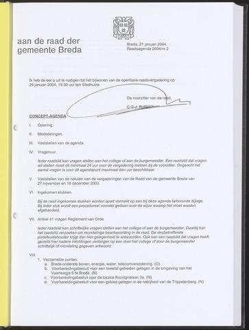 Breda - Bijlagen bij de notulen van de gemeenteraad 2004